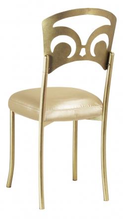 Gold Fleur de Lis with Champagne Nu Silk Boxed Cushion (1)
