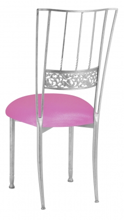 Silver Bella Fleur with Pink Glitter Knit Cushion (1)