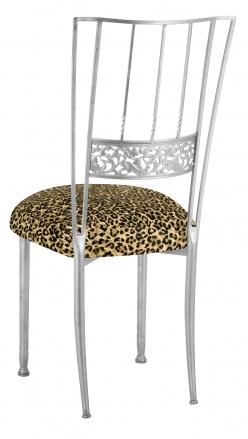 Silver Bella Fleur with Leopard Boxed Cushion (1)