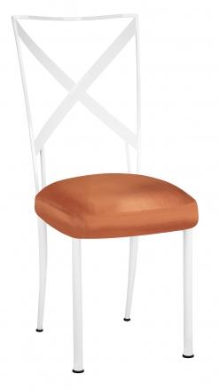 Simply X White with Orange Taffeta Boxed Cushion (2)