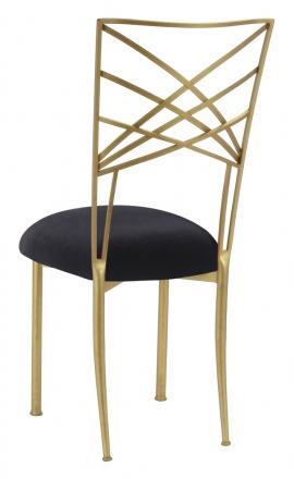 Gold Fanfare with Black Velvet Cushion (1)