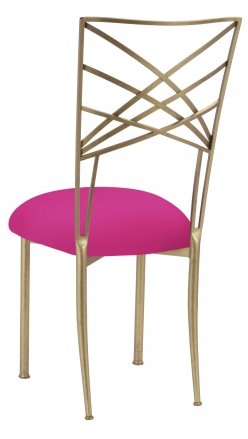 Gold Fanfare with Hot Pink Stretch Knit Cushion (1)