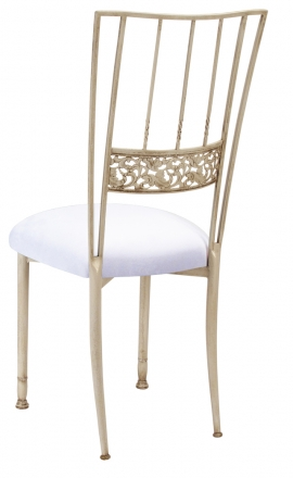 Ivory Bella Fleur with White Suede Cushion (1)
