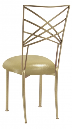 Gold Fanfare with Metallic Gold Stretch Knit Cushion (1)