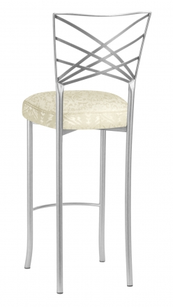 Silver Fanfare Barstool with Victoriana Boxed Cushion (1)