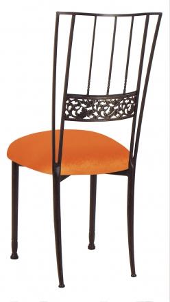 Mahogany Bella Fleur with Orange Velvet Cushion (1)