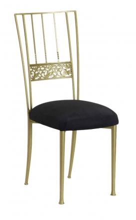 Gold Bella Fleur with Black Suede Cushion (2)