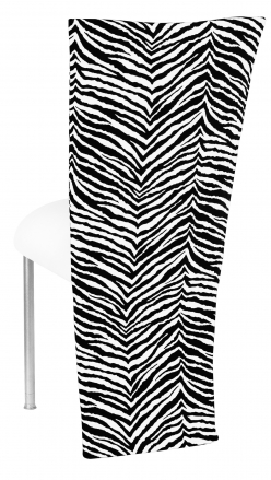 Black and White Zebra Jacket with White Suede Cushion on Silver Legs (1)