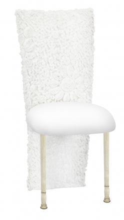 White Wedding Lace Jacket with White Stretch Knit Cushion on Ivory Legs (2)