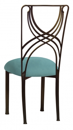 Bronze La Corde with Turquoise Suede Cushion (1)