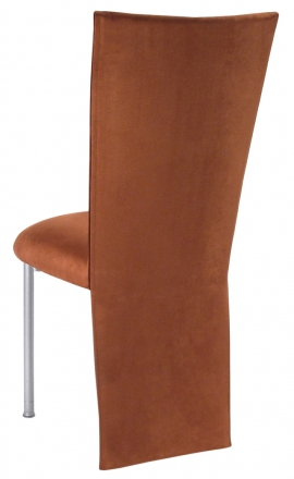Cognac Suede Jacket and Cushion on Silver Legs (1)