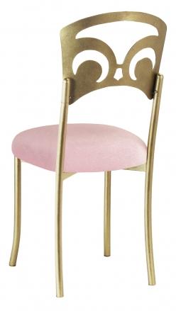 Gold Fleur de Lis with Pink Sparkle Velvet Cushion (1)
