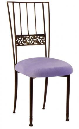 Mahogany Bella Fleur with Lavender Velvet Cushion (2)