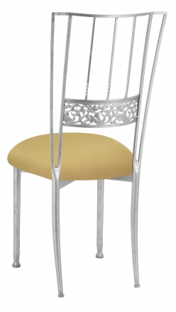 Silver Bella Fleur with Gold Stretch Knit Cushion (1)