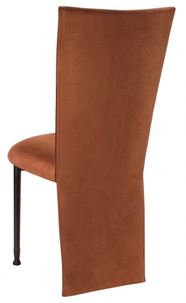 Cognac Suede Jacket and Cushion on Mahogany Legs (1)