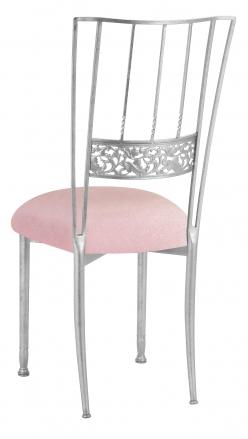 Silver Bella Fleur with Pink Sparkle Velvet Cushion (1)