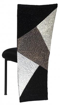 Metropolis with Black Stretch Knit Cushion on Black Legs (1)