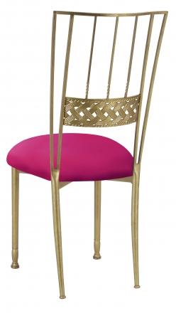 Gold Bella Braid with Fuchsia Stretch Knit Cushion (1)