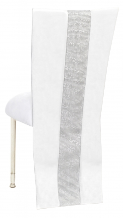White Suede Jacket with Rhinestone Center and Cushion on Ivory Legs (1)