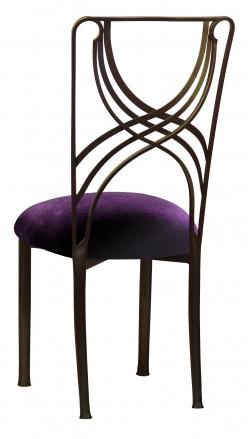 Bronze La Corde with Deep Purple Velvet Cushion (1)