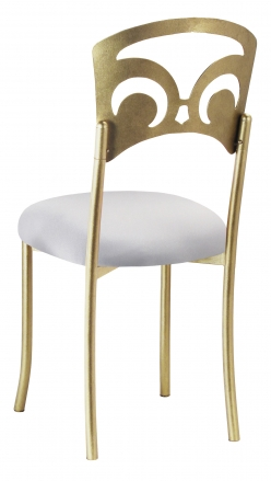 Gold Fleur de Lis with Silver Stretch Knit Cushion (1)