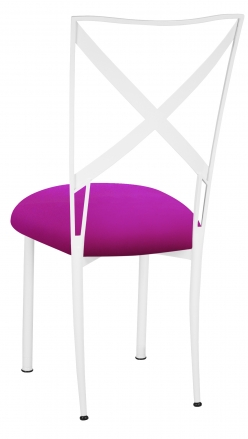 Simply X White with Magenta Stretch Knit Cushion (1)