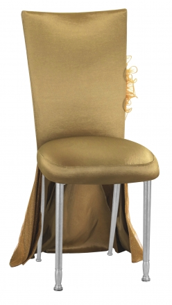 Gold Taffeta BET Dress with Boxed Cushion on Silver Legs (2)