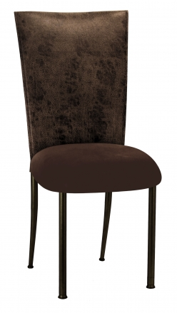 Durango Chocolate Leatherette with Chocolate Suede Cushion on Brown Legs (2)