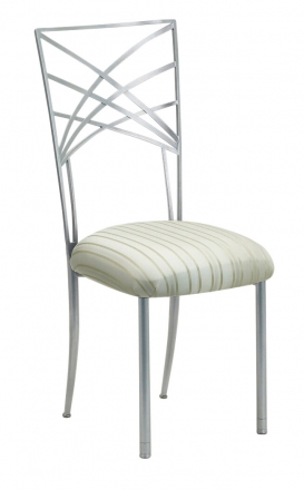 Silver Fanfare with Ivory Stripe Cushion (2)