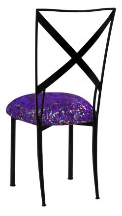 Blak. with Purple Paint Splatter Knit Cushion (1)