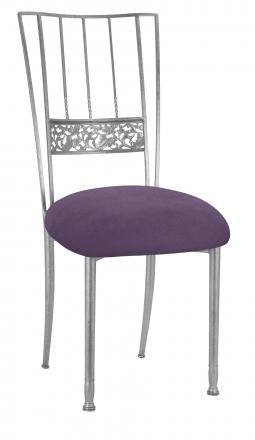 Silver Bella Fleur with Lilac Suede Cushion (2)