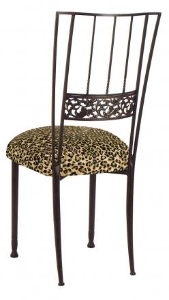 Mahogany Bella Fleur with Leopard Boxed Cushion (1)