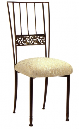 Mahogany Bella Fleur with Toffee Stretch Knit and Ivory Lace Cushion (2)