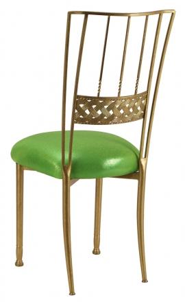 Gold Bella Braid with Metallic Lime Cushion (1)