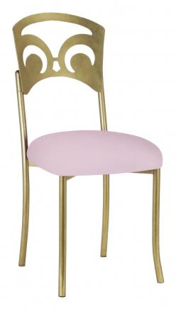 Gold Fleur de Lis with Soft Pink Velvet Cushion (2)