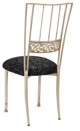 Ivory Bella Fleur with Black Lace Cushion (1)