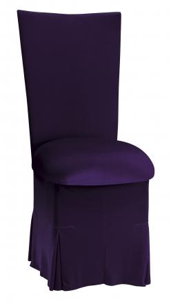 Eggplant Velvet Chair Cover, Cushion and Skirt (2)