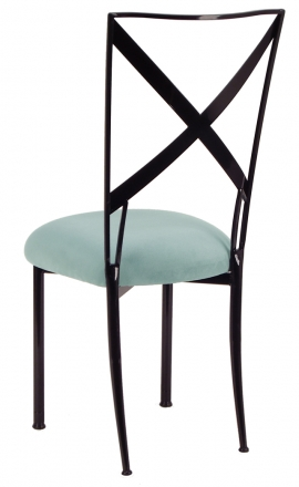 Blak. with Ice Blue Suede Cushion (1)