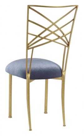 Gold Fanfare with Steel Velvet Cushion (1)