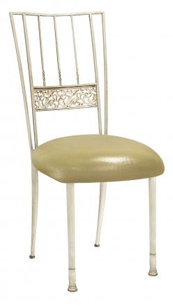 Ivory Bella Fleur with Metallic Gold Stretch Knit Cushion (2)