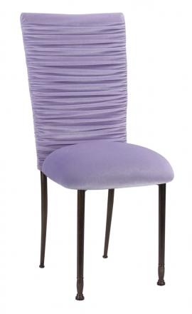 Chloe Lavender Velvet Chair Cover and Cushion on Mahogany Legs (2)