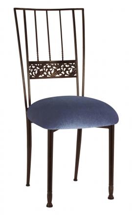 Mahogany Bella Fleur with Steel Velvet Cushion (2)