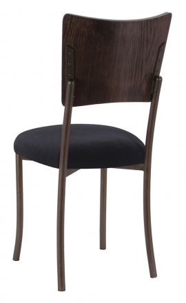Wood Back Top with Black Velvet Cushion on Brown Legs (1)