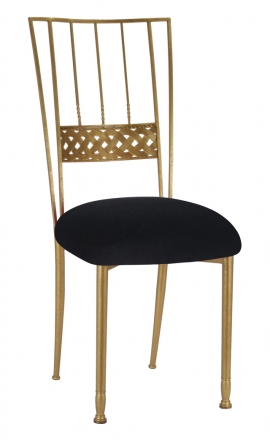 Gold Bella Braid with Black Velvet Cushion (2)