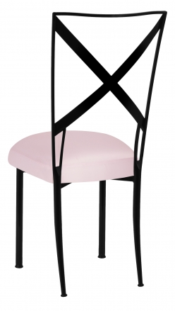 Blak. with Soft Pink Satin Boxed Cushion (1)