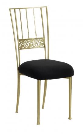Gold Bella Fleur with Black Stretch Knit Cushion (2)