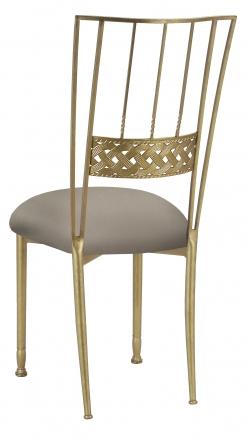 Gold Bella Braid with Chino Stretch Knit Cushion (1)