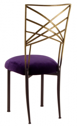 Two Tone Gold Fanfare with Eggplant Velvet (1)