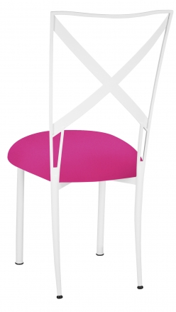 Simply X White with Hot Pink Knit Cushion (1)