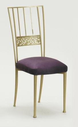 Gold Bella Fleur with Lilac Suede Cushion (2)